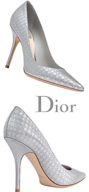 Silver Printed Dior Pumps #brilliantluxury