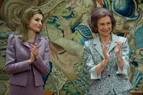 Queen Sofia and Princess Letizia attended the Delivery of the decorations of the Civil Order of Social Solidarity at Zarzuela Palace