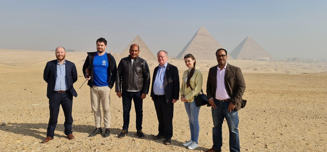 The Embassy of Ireland chooses the Giza Pyramids area to celebrate Ireland's National Day with Irish musician Micheál Ó hIarlaithe