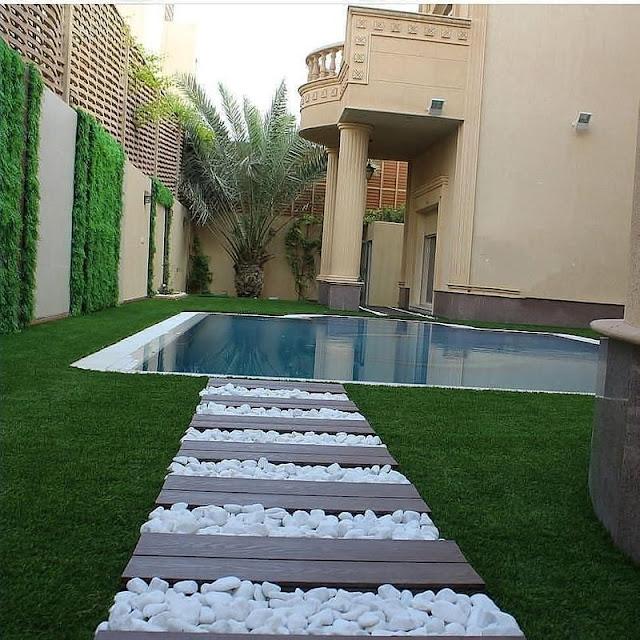 تنسيق حديقة منزلية في جدة