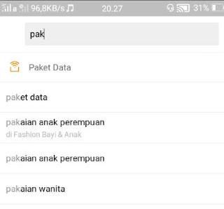belanja online shop-pilih paket data