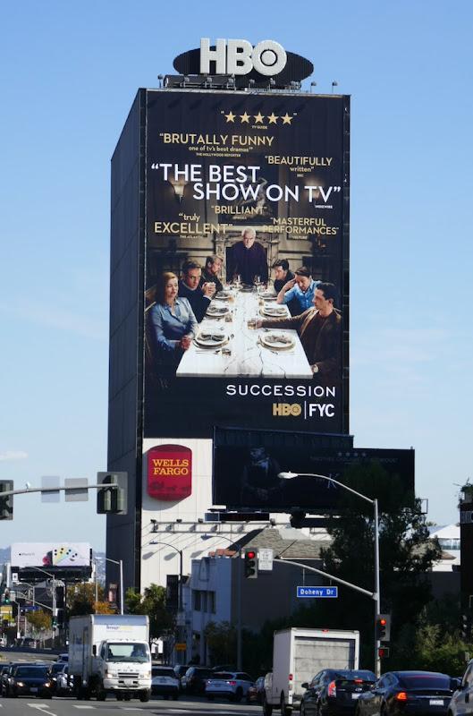 Giant Succession season 2 HBO FYC billboard