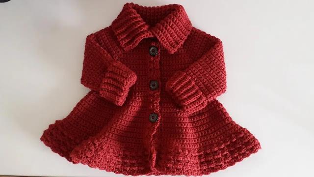 Como Tejer Abrigo de Niña a Crochet