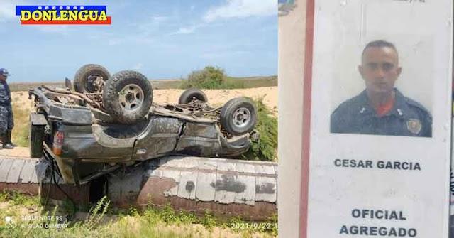 Funcionario de la PNB murió en Punto Fijo tras volcar su vehículo