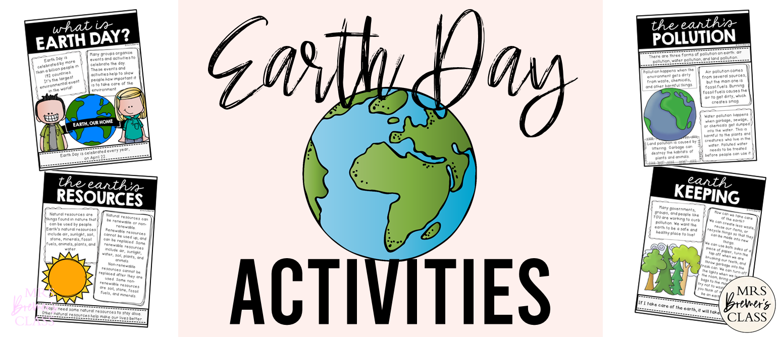 Earth Day activities unit for First Grade and Second Grade