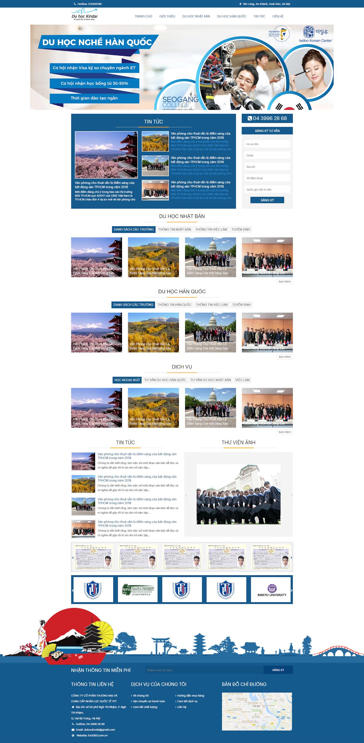Mẫu website về Giáo dục