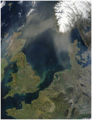 Satelliittikuva Pohjanmerestä.