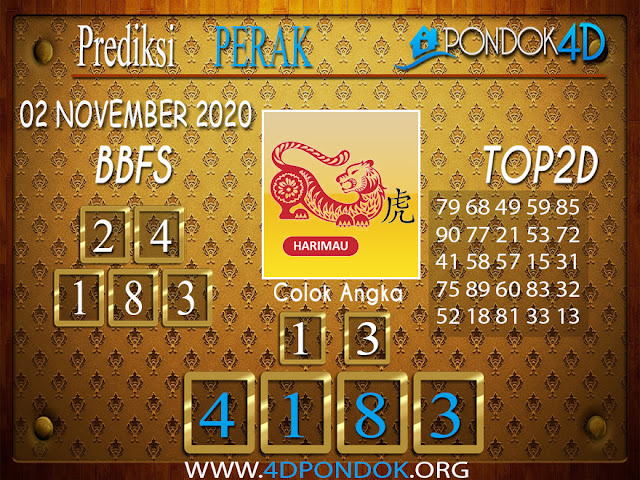 Prediksi Togel PERAK PONDOK4D 02 NOVEMBER 2020