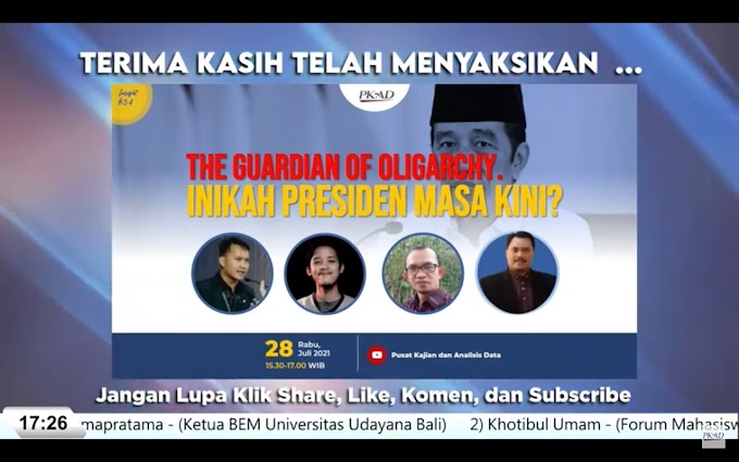 "INSIGHT #54:""The Guardian Of Oligarchy Inikah Presiden Masa Kini?"""