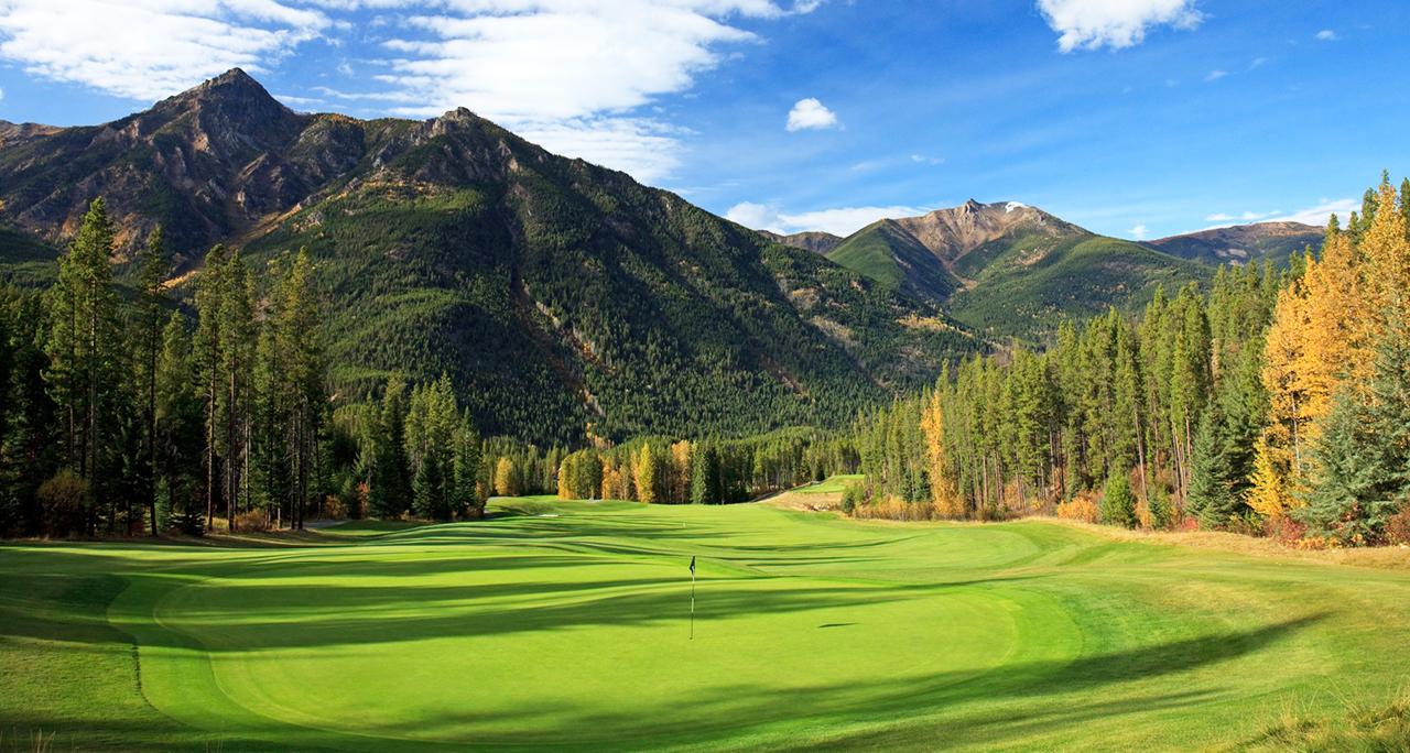 Pemandangan Indah Lapangan Golf Fotografi Landscape