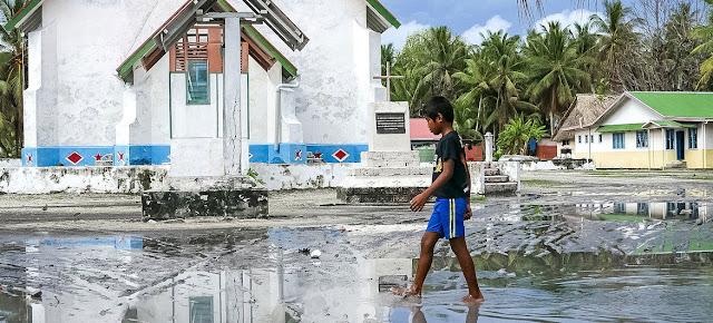 El archipiélago de Tuvalu, en el Pacífico Sur, es altamente vulnerable a la subida del nivel del mar provocada por el cambio climático.PNUD/Silke von Brockhausen