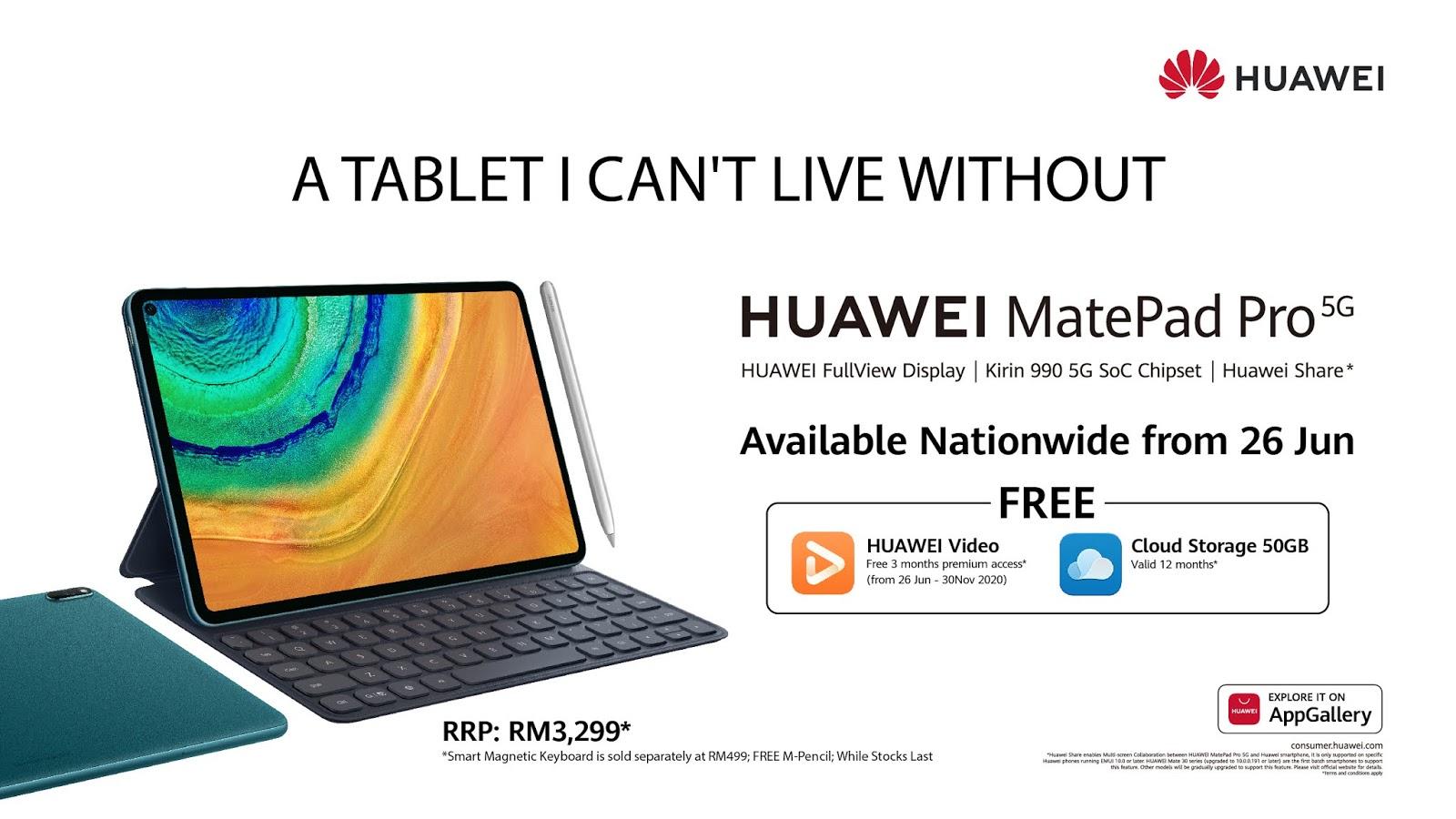 Huawei MatePad Pro 5G in Malaysia