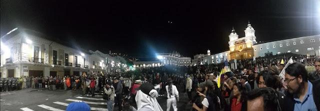 Manifestaciones en Quito