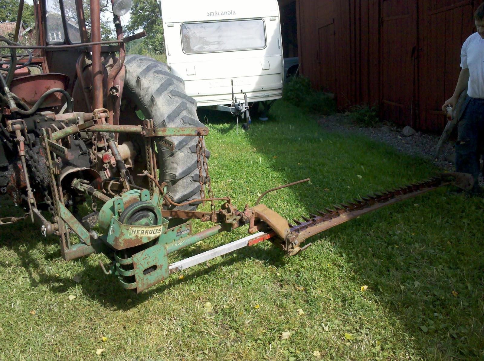 Begagnad slåtterbalk traktor