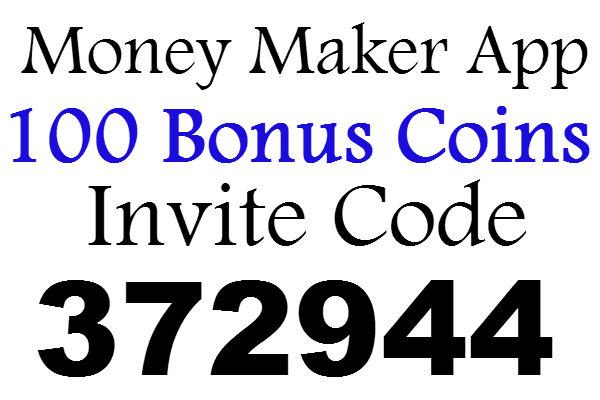 Money Maker App Invite Code 100 Bonus Coins, Money Maker App Refer A Friend, Money Maker App Promo Code 2021