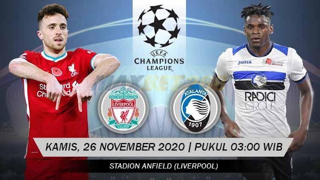Prediksi Liverpool Vs Atalanta, Kamis 26 November 2020 Pukul 03.00 WIB