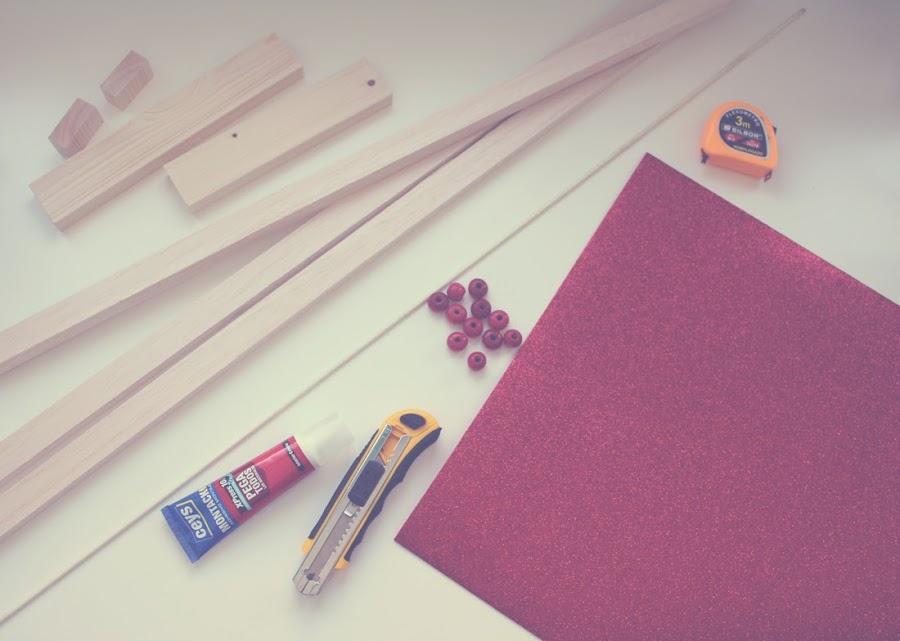 Calendario de adviento de madera Materiales