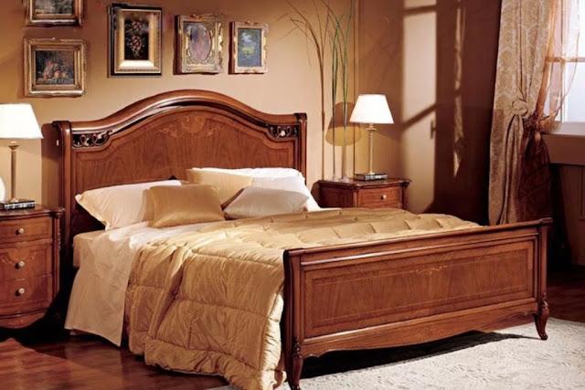 Giường ngủ gỗ sồi đỏ