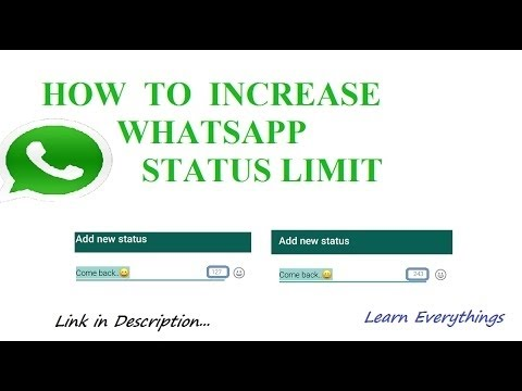 Tricks How To Disable Whatsapp Status 30 Seconds Limit On