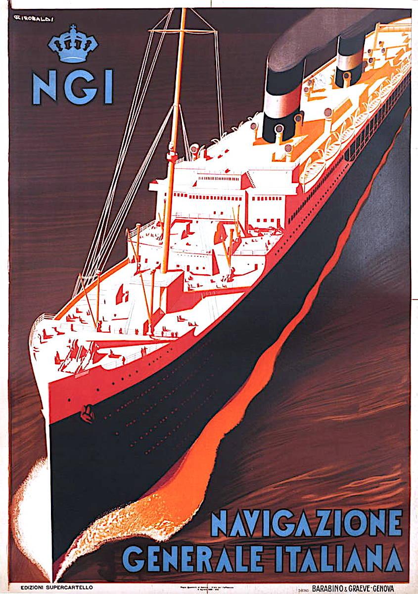 NGI Navigazione Generale Italiana, a cruise ship poster