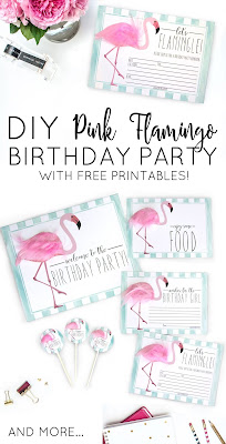 flamingo birthday printables