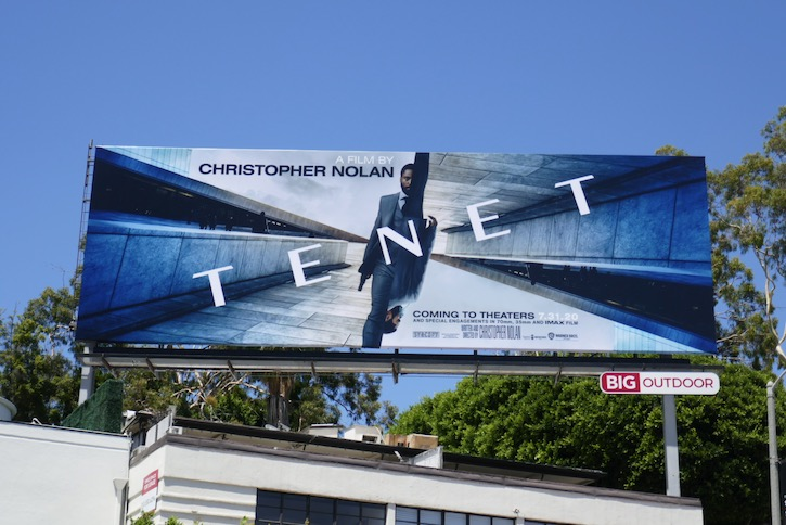 Tenet movie billboard
