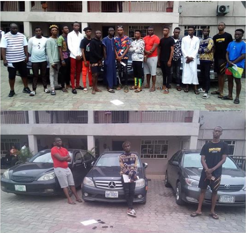 EFCC arrest 17 suspected fraudsters  in Delta
