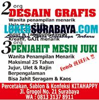 Karir Surabaya di Percetakan Sablon dan Konveksi KitaHappy September 2020