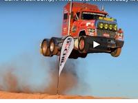 Ash Nichols creates jumping record driving his Ford LTL at Loveday 4x4 Adventure Park