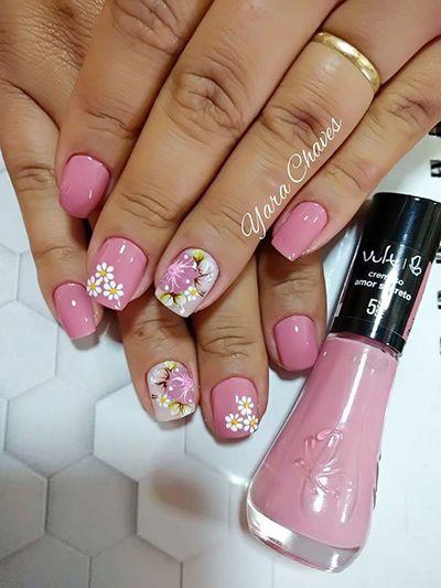 unhas decoradas rosa 1