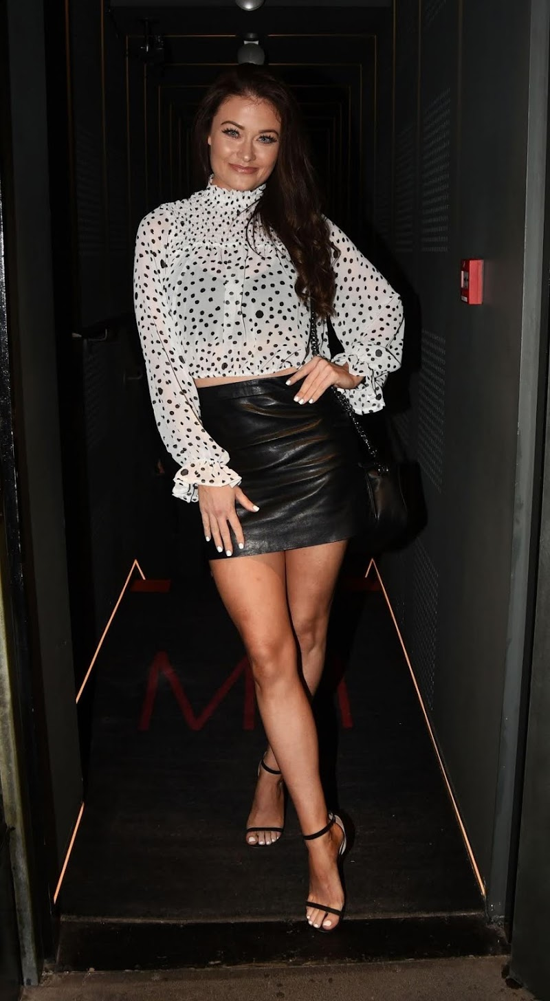 Jess Impiazzi Arrives at Mnky Hse in London 21 Aug -2020