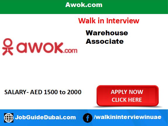 Awok.com career for warehouse associate job in Dubai