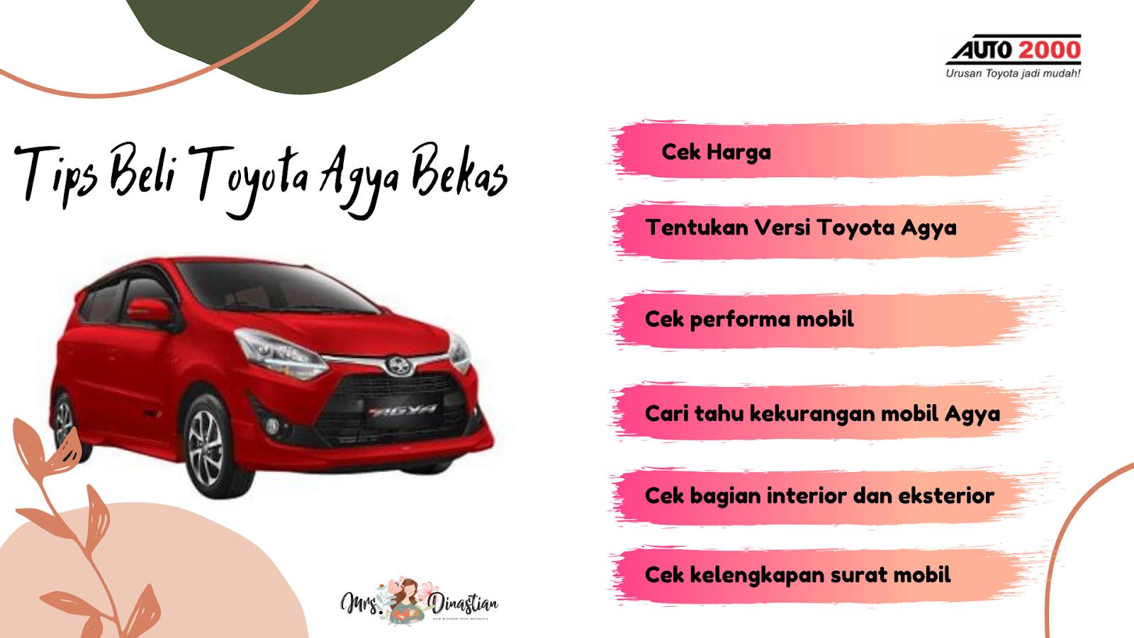 Tips Beli Toyota Agya Bekas