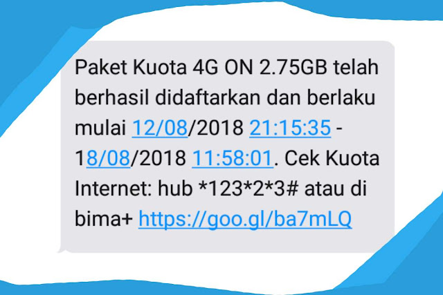 Tri memang menjadi salah satu provider yang dapat dibilang menyediakan harga yang pas dika Cara Daftar Paket Internet Tri Murah  2.75 GB Hanya 10 Ribu Terbaru 2019