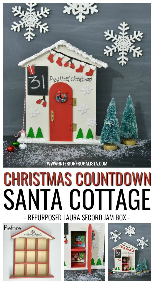 Christmas Countdown Santa Cottage Advent Calendar Idea