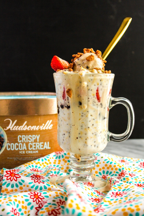 Treat yourself to ice cream for breakfast with these simple yet indulgent Ice Cream Breakfast Parfaits!