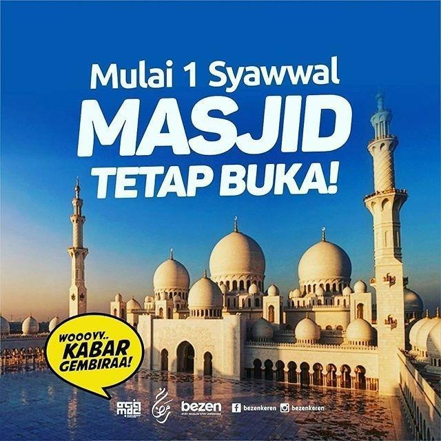 Masjid Tetap Buka Lho Meski Ramadhan Berakhir