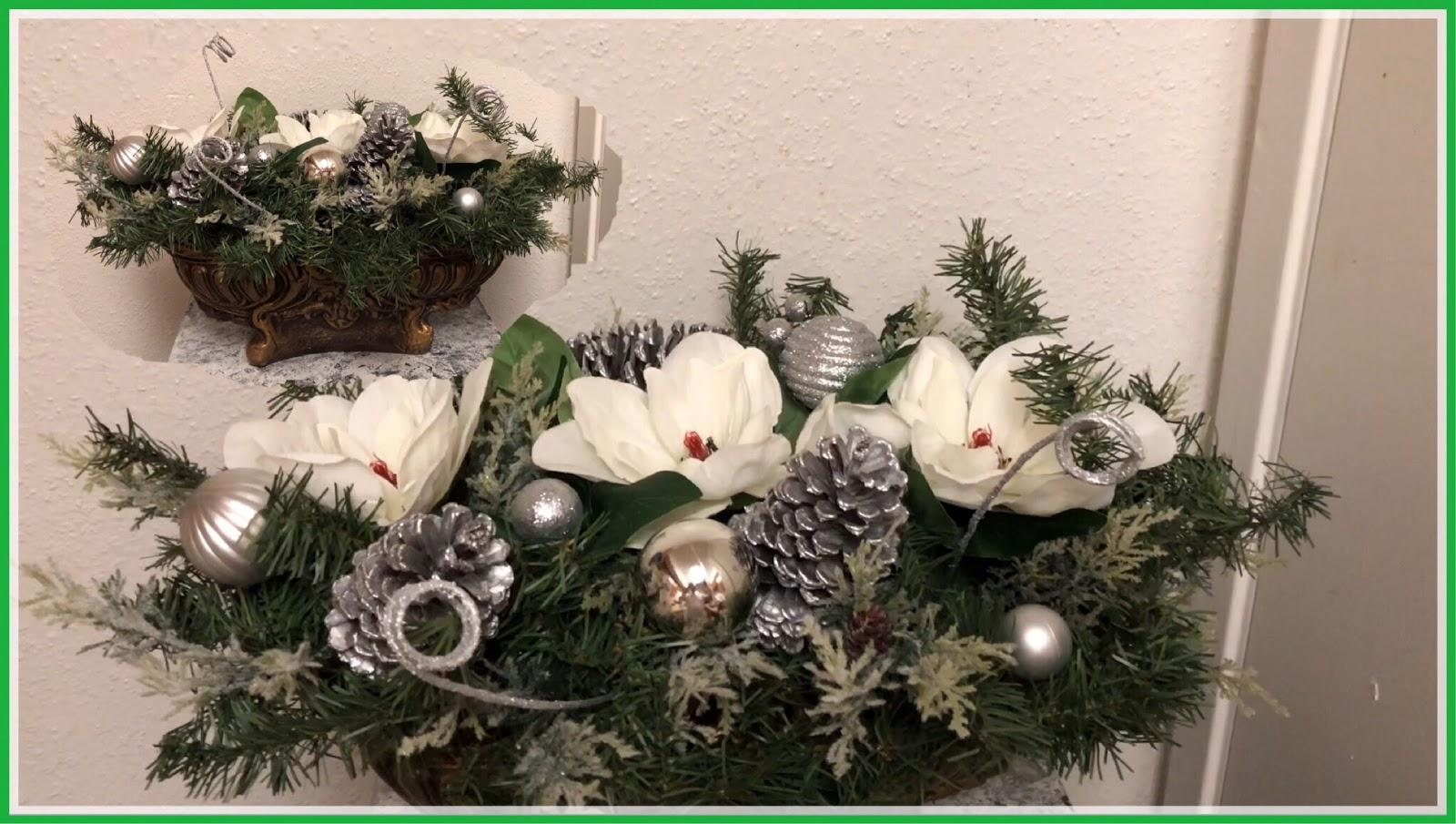 Realizando Manualidades Arreglo Floral Para Navidad Y Fin