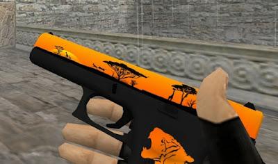 Skin Glock18 - Safari (CS:GO) HD para CS 1.6