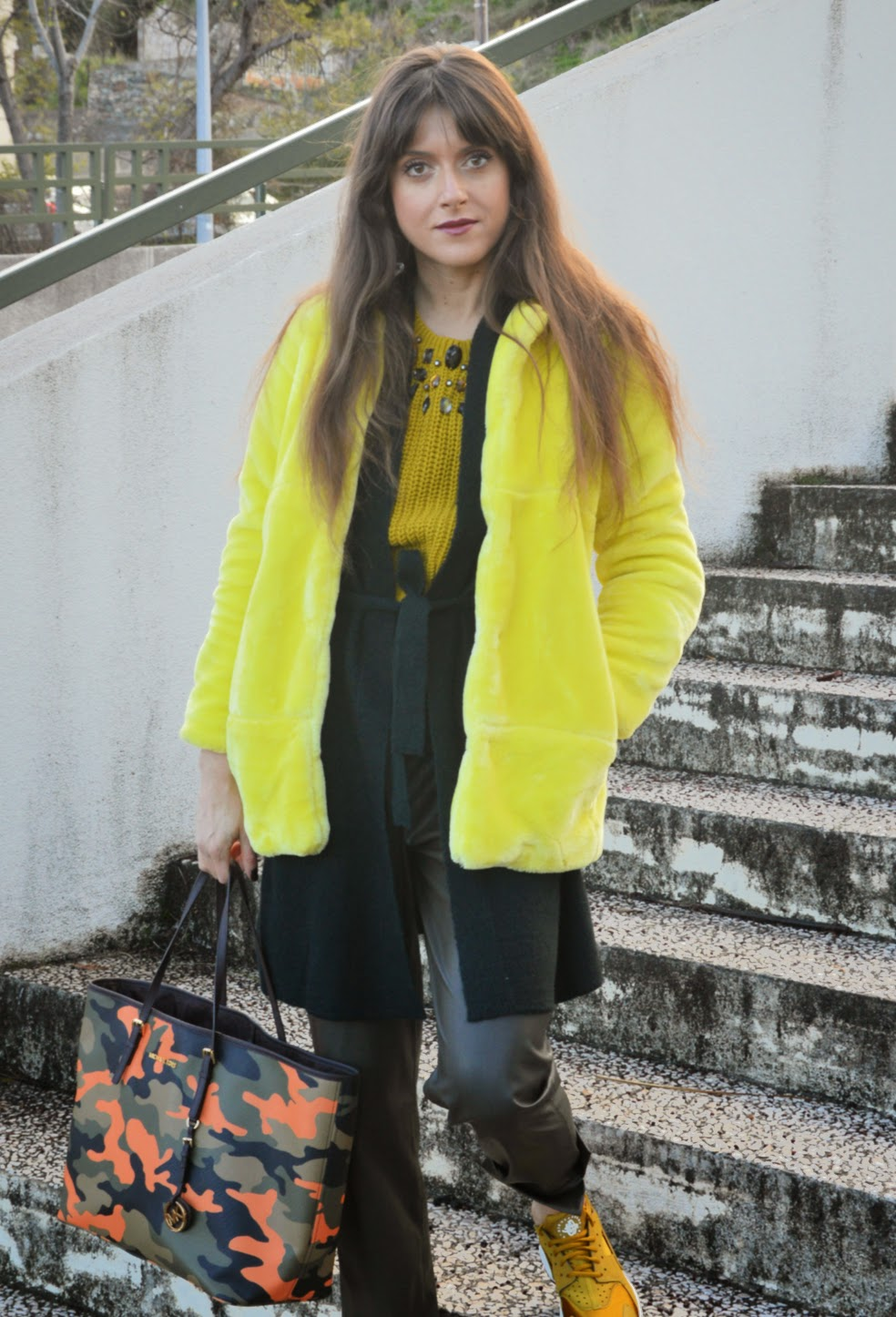 d6ee536e0f47f I deliberately didn t make formal presentations and for good reason as  you ve seen this faux fur chick yellow jacket at work more than once on  Instagram!  )