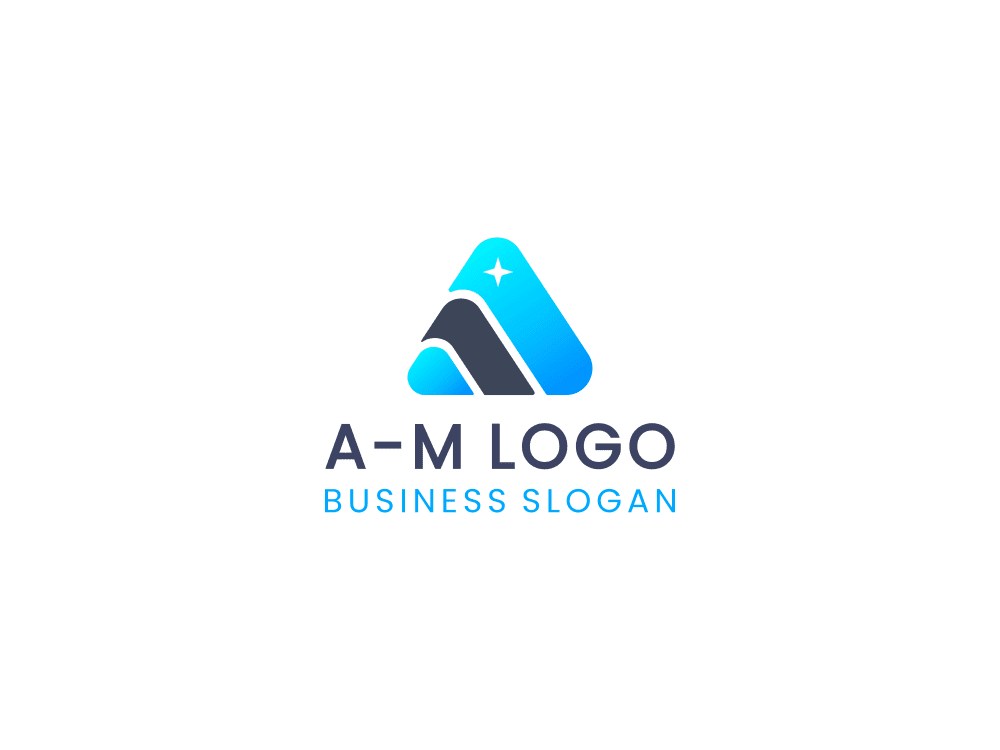 Free logo triangle on white background