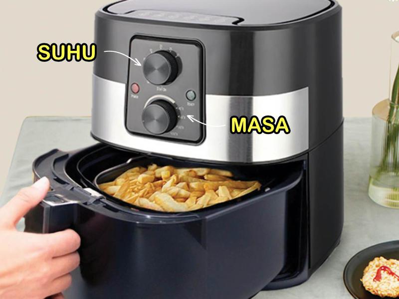 Jadual Suhu Dan Masa Memasak Bagi Penggunaan Air Fryer