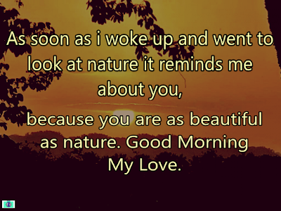 sweet good morning message to my love