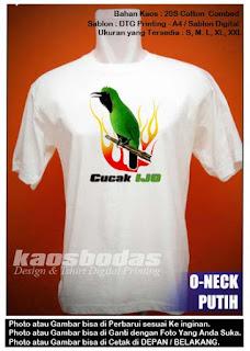 Kode Kaos : Cucak Ijo 05 Putih