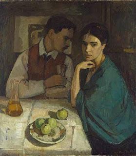 Пол Басилиус. Двойной портрет художника и его жены. 1908