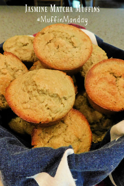 Jasmine Matcha Muffins pin