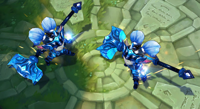 Mod Skin Poppy Battle Star Blue