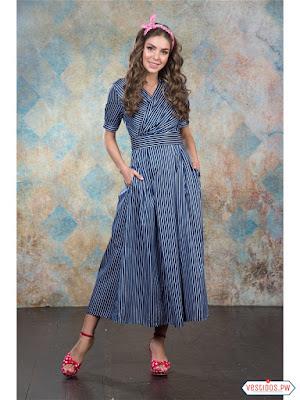 vestidos color azul largos