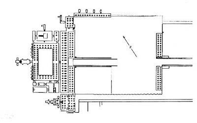 Planta del templo de Hatshepsut