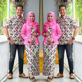 model baju batik couple anak muda muslim